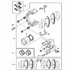Пружина скобы суппорта передних колодок Эпика GM