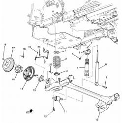 Опора амортизатора задняя верхняя левая Авео T300 GM