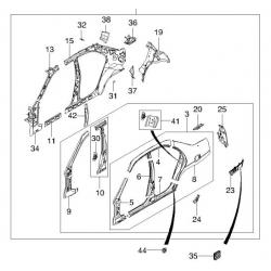 Решётка вентиляции багажника Нубира GM