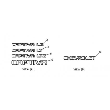 Эмблема надпись Captiva LT GM 96448163