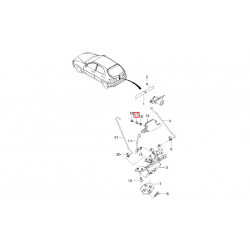Втулка привода замка двери задка (актуатора) GM