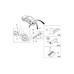 Стоп сигнал дополнительный заднего стекла Лачетти универсал GM