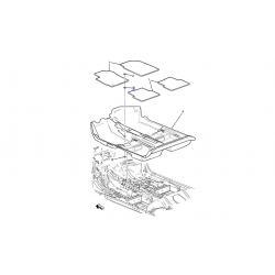 Пистон крепления переднего ковра Авео T300 Каптива GM