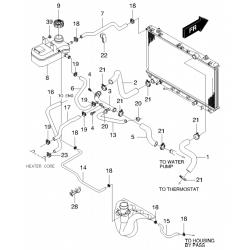 Патрубок грубки (підвідний) Такума 2.0 GM
