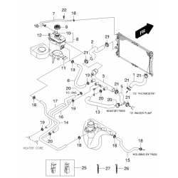 Патрубок от бачка к перепускной трубе Нубира 2.0 GM