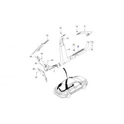 Накладка порога пола передняя правая T200 седан, Т250, Т255, ЗАЗ Вида GM