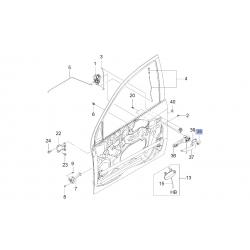 Накладка (заглушка) передней левой наружной ручки двери Авео T250 Эпика Каптива GM