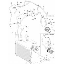 Трубка кондиционера сдвоенная под радиатор Авео 1.2 GM