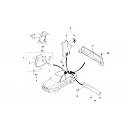 Оббивка арки заднього колеса передня (в салоні) права GM