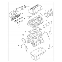 Прокладка крышки блока цилиндров со стороны КПП Матиз Авео 1.2 GM