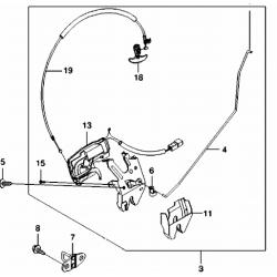 Ручка внутренняя открывания багажника Эванда GM