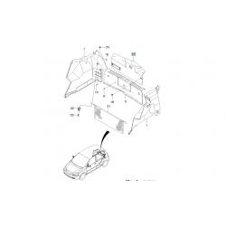Обивка внутренняя двери задка Авео T200 хэтчбек GM