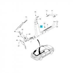 Накладка средней стойки боковины нижняя Авео правая GM