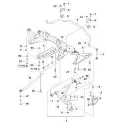 Болт переднего рычага продольный Эпика GM