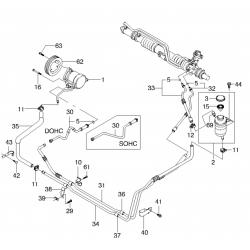 Шланг гидроусилителя (подача) Ланос 1.6 GM