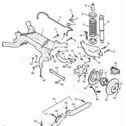 Болт нижнього важіль задньої підвіски до підрамника Каптива GM