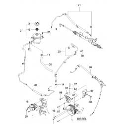 Патрубок гідропідсилювача (обратка) Епіка GM