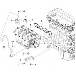 Прокладка впускного колектора Авео 1.4 LDT Круз 1.6 LXV GM