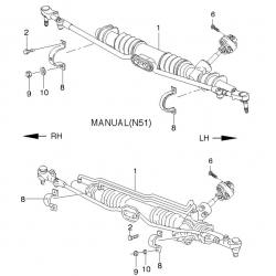 Болт крепления скобы рулевого механизма к кузову Ланос Сенс GM
