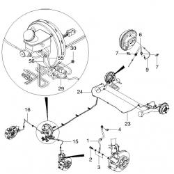 Болт перепускний гальмівного шланга до супорта Матіз М150 М200 GM