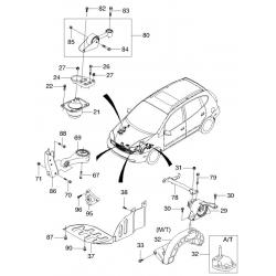 Болт кронштейна опоры двигателя Такума GM