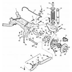 Болт поперечної задньої нижньої тяги до куркуля Каптива GM