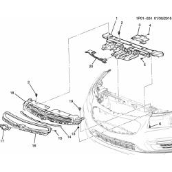 Болт (саморез) передней решетки, воздухозаборника и облицовки противотуманных фар GM