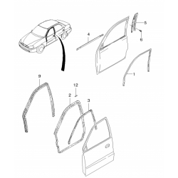 Болт (саморез) накладки двери GM