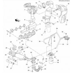 Прокладка клапана EGR дизель GM