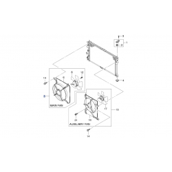 Вентилятор радіатора охолодження основний ст. зразка Ланос Сенс GM