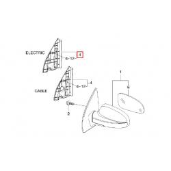 Накладка дзеркала права Авео Т200 під електро GM