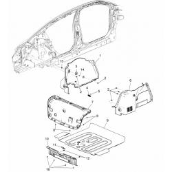 Обшивка багажника левая Круз GM