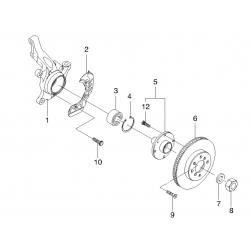 Кольцо стопорное подшипника передней ступицы Леганза Лачетти Такума GM