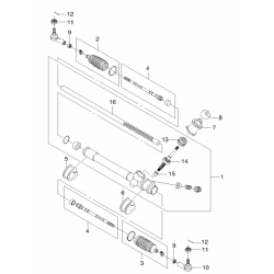 Втулка (подушка) рульового механізму права Матіз GM