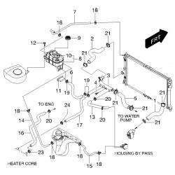 Патрубок (обратка) от бачка к радиатору Леганза GM