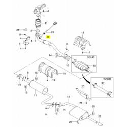 Приемная труба (штаны) 1.5 Евро 2 под вертикальный катализатор GM