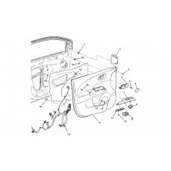 Блок управления стеклоподъемником пер. левый с блокировкой 4кл. Авео Т-300 GM