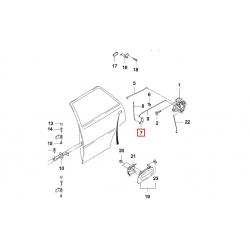 Коромисло тяги замка задньої двері Нексія Матіз GM