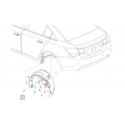 Гайка пластикова кріплення задніх підкрилків Круз GM