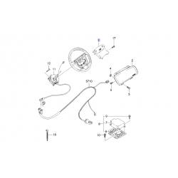 Кришка керма (заглушка) замінник Airbag (4 спиці) Ланос GM