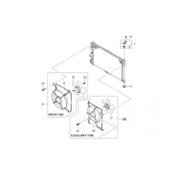 Вентилятор радиатора охлаждения дополнительный Ланос Сенс GM