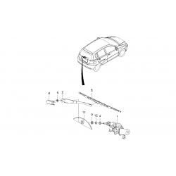 Двигатель стеклоочистителя задний Авео Т200 хэтчбек GM