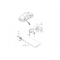 Ручка троса открывания багажника и лючка бензобака Авео T200 T250 седан GM