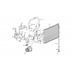 Трубка кондиціонера від компресора до випарника (подвійна) Авео T300 1.6 LDE 1.4 LDD GM