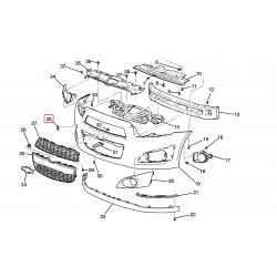 Заглушка буксирувального гака переднього бампера Авео T300 GM