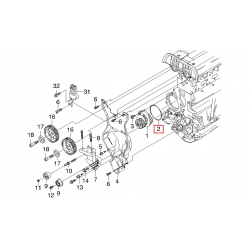 Прокладка (кільце) помпи 1.8-2.0, 2.2, 2.4 GM