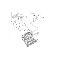 Трубка вакуумна від датч. абсол. тиску до дросельної заслінки Авео Лачетті Нексія 1.4-1.6 GM