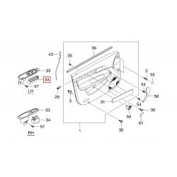 Блок кнопок стеклоподъёмника левый (4 кнопки) Эванда GM