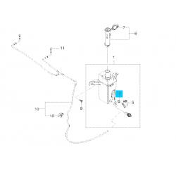 Кольцо уплотнительное бачка омывателя Леганза Нубира Лачетти Эванда GM