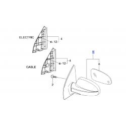 Дзеркало зовнішнє праве механічне Авео Т-200 GM